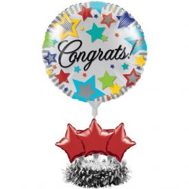 Air Filled Congrats Balloon Centerpiece Kit