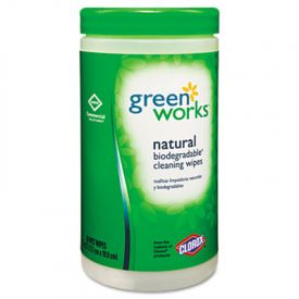 Green Works® Compostable Cleaning Wipes, 7 x 7 1/2, Original Scent
