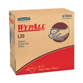 WypAll* L20 Wipers, 9 1/10 x 16 4/5, White, POP-UP Box, 4-Ply