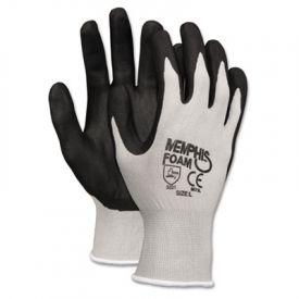 Memphis™ Economy Foam Nitrile Gloves, Medium, Gray/Black