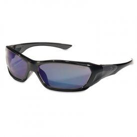 Crews® Forceflex Professional Safety Glasses, Black Frame, Blue Lens