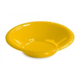 School Bus Yellow Bowl, Plastic 12 Oz