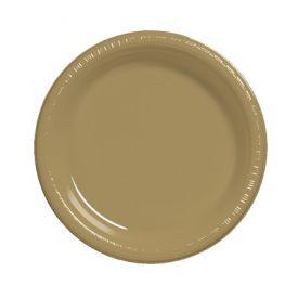 Glittering Gold  Plastic Dinner Plate Bulk 9