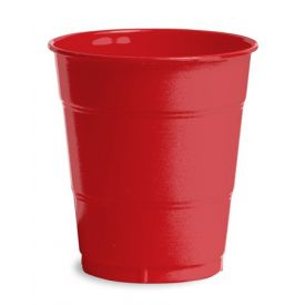 Classic Red Plastic Cups, 12 Oz