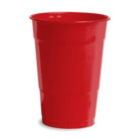 Classic Red Plastic Cups, 16 Oz