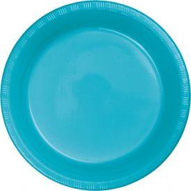 Bermuda Blue Appetizer or Dessert Plastic Plates 7