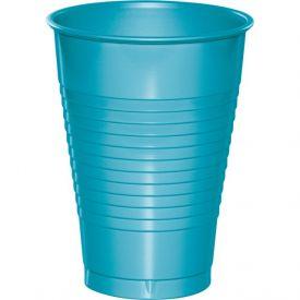 Bermuda Blue Plastic Cups       12 oz