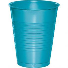 Bermuda Blue Plastic Cups, 16 Oz