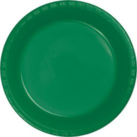Emerald Green Appetizer or Dessert Plastic Plates 7