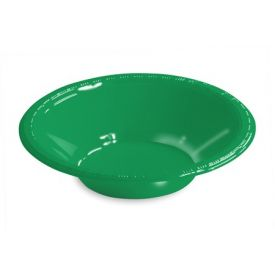 Emerald Green Bowl, Plastic 12 Oz