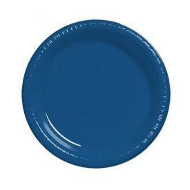 Navy  Plastic Dinner Plate 9
