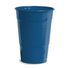 Navy Plastic Cups, 16 Oz