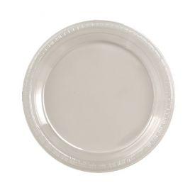 Clear  Plastic Dinner Plate Bulk 9