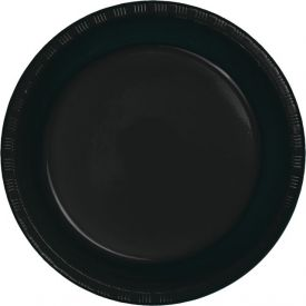 Black Velvet Dinner Plate Plastic 9