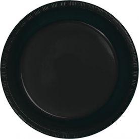 Black Velvet Banquet Plate Plastic 10