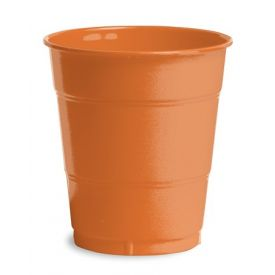 Sunkissed Orange Plastic Cups, 12 Oz