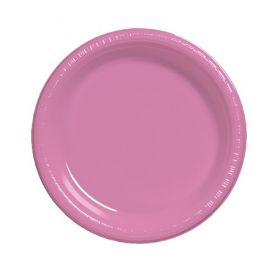 Candy Pink Dinner Plastic Plate 9