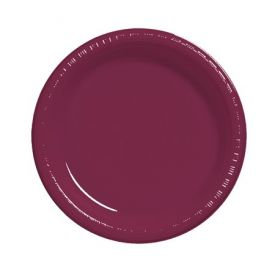 Burgundy  Plastic Dinner Plate 9