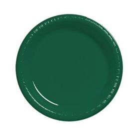 Hunter Green  Plastic Dinner Plate 9