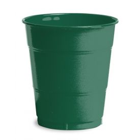 Hunter Green Plastic Cups, 12 Oz