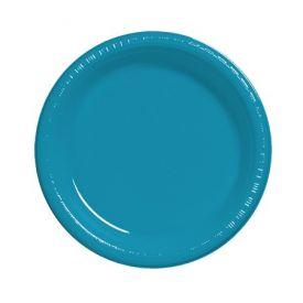 Turquoise Plastic Dinner Plate  9