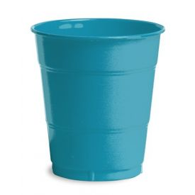 Turquoise Plastic Cups, 12 Oz