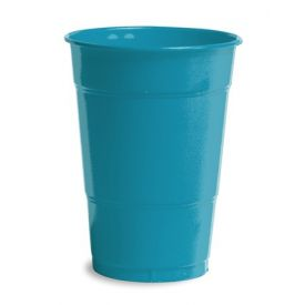 Turquoise Plastic Cups, 16 Oz