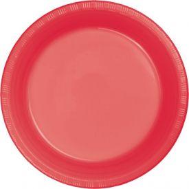 Coral Appetizer or Dessert Plastic Plates 7
