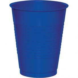 Cobalt Plastic Cups, 16 Oz
