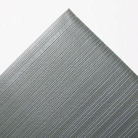 Crown Ribbed Vinyl Anti-Fatigue Mat, Vinyl, 36 x 60, Gray