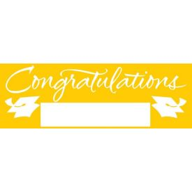 Fill-In School Bus Yellow Grad Giant Party Banner, 60