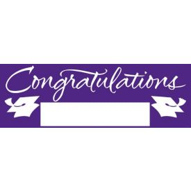 Fill-In Purple Grad Giant Party Banner, 60
