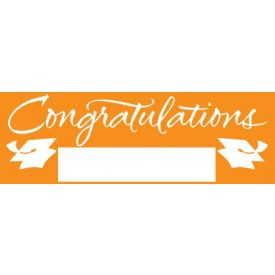 Fill-In Sunkissed Orange Grad Giant Party Banner, 60
