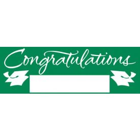 Fill-In Emerald Green Grad Giant Party Banner, 60