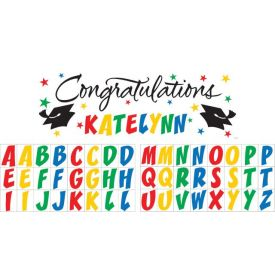 Graduation Giant Party Banner, w/ Stickers
