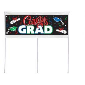 Congrats Grad Yard Banner, 48