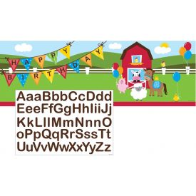 Farmhouse Fun Giant Party Banner, w/ Stickers