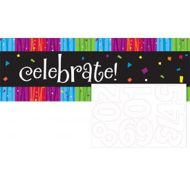 Milestone Celebrations Giant Party Banner, w/ Stickers
