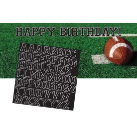 Tailgate Rush Giant Party Banner, w/ Stickers