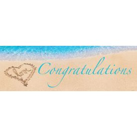 Beach Love Giant Party Banner, 60