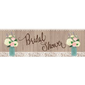Rustic Wedding Giant Party Banner