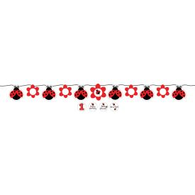 Ladybug Fancy Circle Ribbon Banner, w/ Stickers