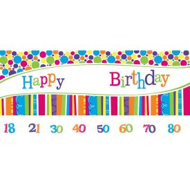 Bright And Bold Giant Party Banner with Stickers