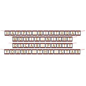 Hollywood Lights Ribbon Banners Shaped