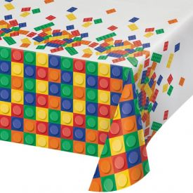 Block Party Plastic Table Covers 54