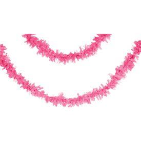 Tissue Garland, 25', Candy Pink