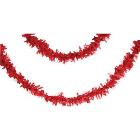 Tissue Garland, 25', Classic Red