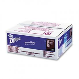 Ziploc® Double Zipper Storage Bags,1 gal, Clear, Write-On Panel