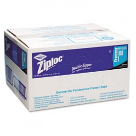 Ziploc® Double Zipper Freezer Bags, 1gal, Clear, Label Panel