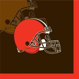 NFL Cleveland Browns Beverage Napkins 2 ply